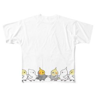 オカメインコのサルエルチーム Full graphic T-shirts