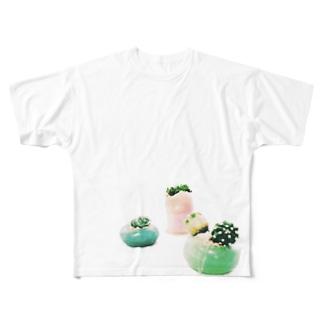 【アロマサボテンズ】 Full graphic T-shirts