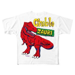 ZAURI △Red▼ Full graphic T-shirts