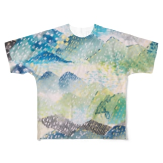 山に雨 Full graphic T-shirts