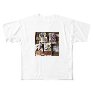 フラワーコレクション Full graphic T-shirts
