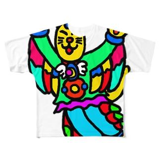 猫のフィーリン Full graphic T-shirts