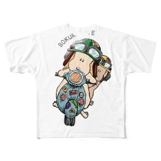 ぷぅぜろバイクTシャツ Full graphic T-shirts