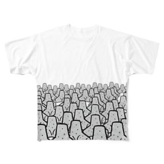 tetra pod 群れ Full graphic T-shirts