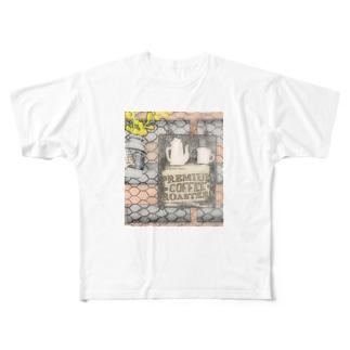 カフェ風クリップボード(イラストタイプ) Full graphic T-shirts