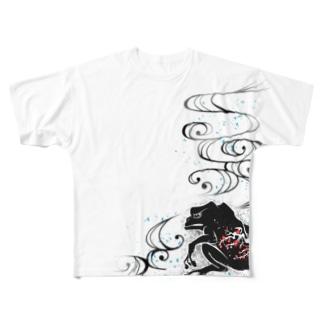 梅波紋 両面 Full graphic T-shirts
