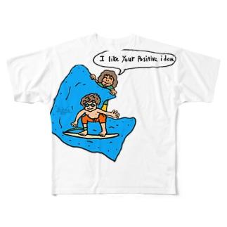positive idea Full graphic T-shirts
