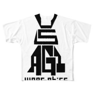 USAGI / 兎 Full graphic T-shirts
