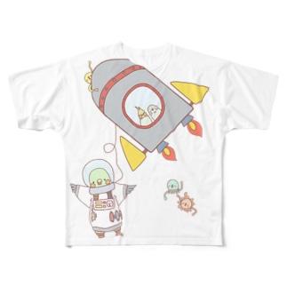 宇宙へ! Full graphic T-shirts
