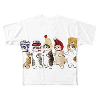 mofusandのかぶりもの猫 Full graphic T-shirts