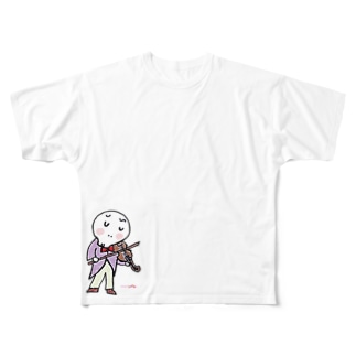 ヴァイオリン君 Full graphic T-shirts
