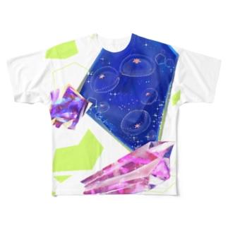 クラゲビジュー Full graphic T-shirts