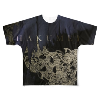 HAKUMEI(薄明) Full graphic T-shirts