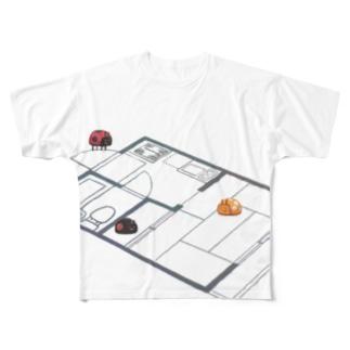 生活を模するてんとう虫 Full graphic T-shirts