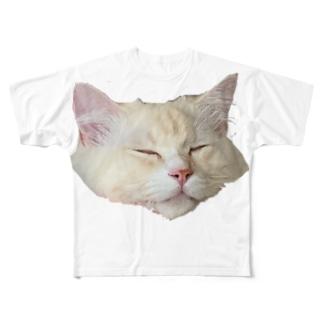 うちのねこ Full graphic T-shirts