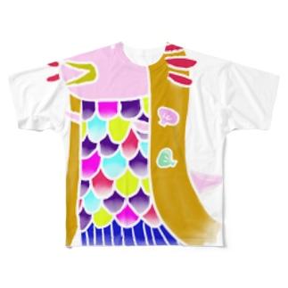 うぱあまびえ白線ver. Full graphic T-shirts