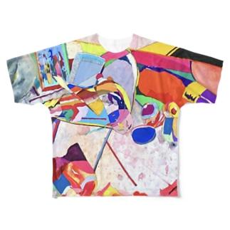 カラフルなゴミ Full graphic T-shirts