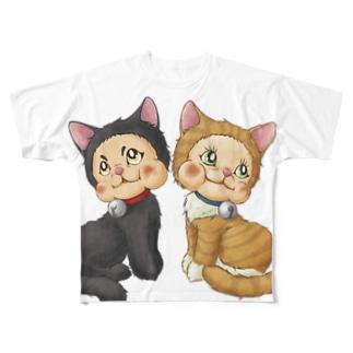 ラバードール猫風 Full graphic T-shirts