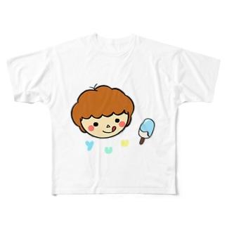 オリジナルイラスト1〜クリームソーダーver〜 Full graphic T-shirts