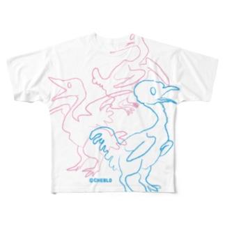 三羽 Full graphic T-shirts