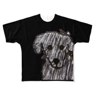 顎ちゃん Full graphic T-shirts