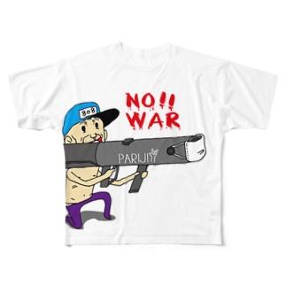 PARIJI(戦争だめ NO!WAR) Full graphic T-shirts