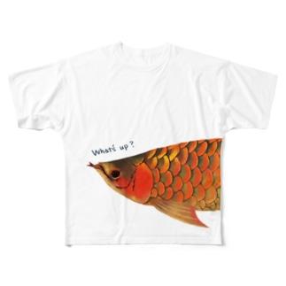 アロワナ(フルグラフィック) Full graphic T-shirts
