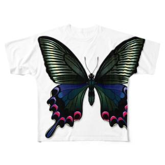 ミヤマカラスアゲハをまとうTシャツ*対馬型 Full graphic T-shirts