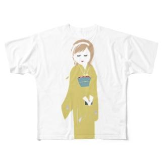 着物モガ Full graphic T-shirts