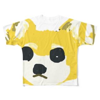 わんこの茶色ちゃん Full graphic T-shirts