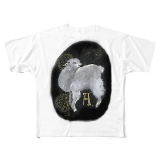 A アルパカ Full graphic T-shirts