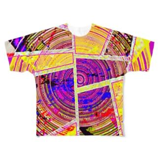 サイケデリック・パッション/バジル Full graphic T-shirts
