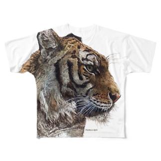 トラ(横顔) Full graphic T-shirts
