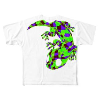 トカゲ Full Graphic T-Shirt