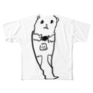 餌を食べるラッコ Full graphic T-shirts