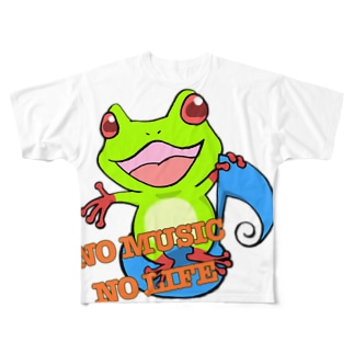 NO MUSIC NO LIFE 🐸 Full graphic T-shirts