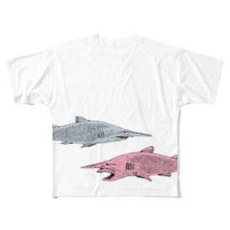 ゴブリンシャーク Full graphic T-shirts