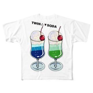 ツインソーダ Full graphic T-shirts