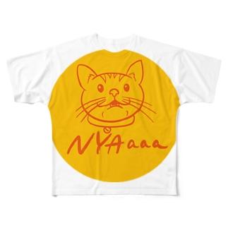 NYAaaa_maru Full graphic T-shirts