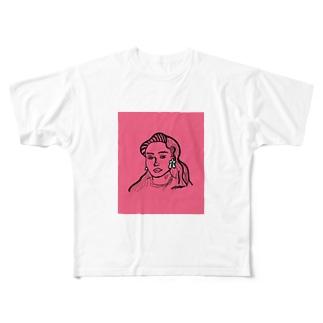 架空人物:Jasmine Full graphic T-shirts