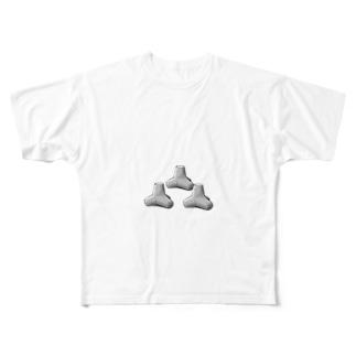 テトラポット Full graphic T-shirts