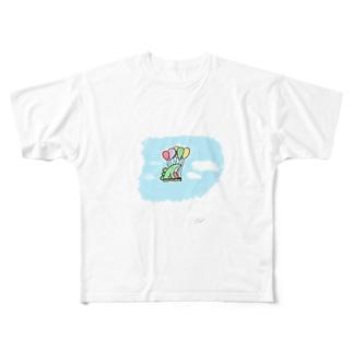 #空飛ぶ恐竜くん  Full graphic T-shirts