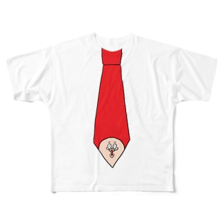 トモ氏ネクタイTシャツ Full graphic T-shirts
