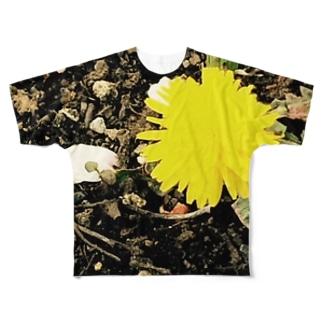 桜の木の下のたんぽぽ2016 Full graphic T-shirts