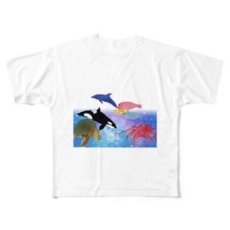 水族館 Full graphic T-shirts