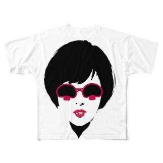 はまッシュ ショップのマッシュルームグラス Full graphic T-shirts