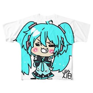 にししなミクちゃん Full graphic T-shirts