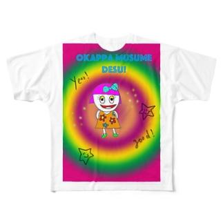 creativeNAOのokappamusumedesu! Full graphic T-shirts