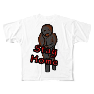 nyanchu08023のSTAY HOME ゾンビ Full graphic T-shirts