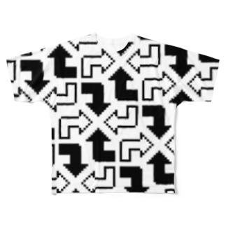 おれやじるしクン Full graphic T-shirts